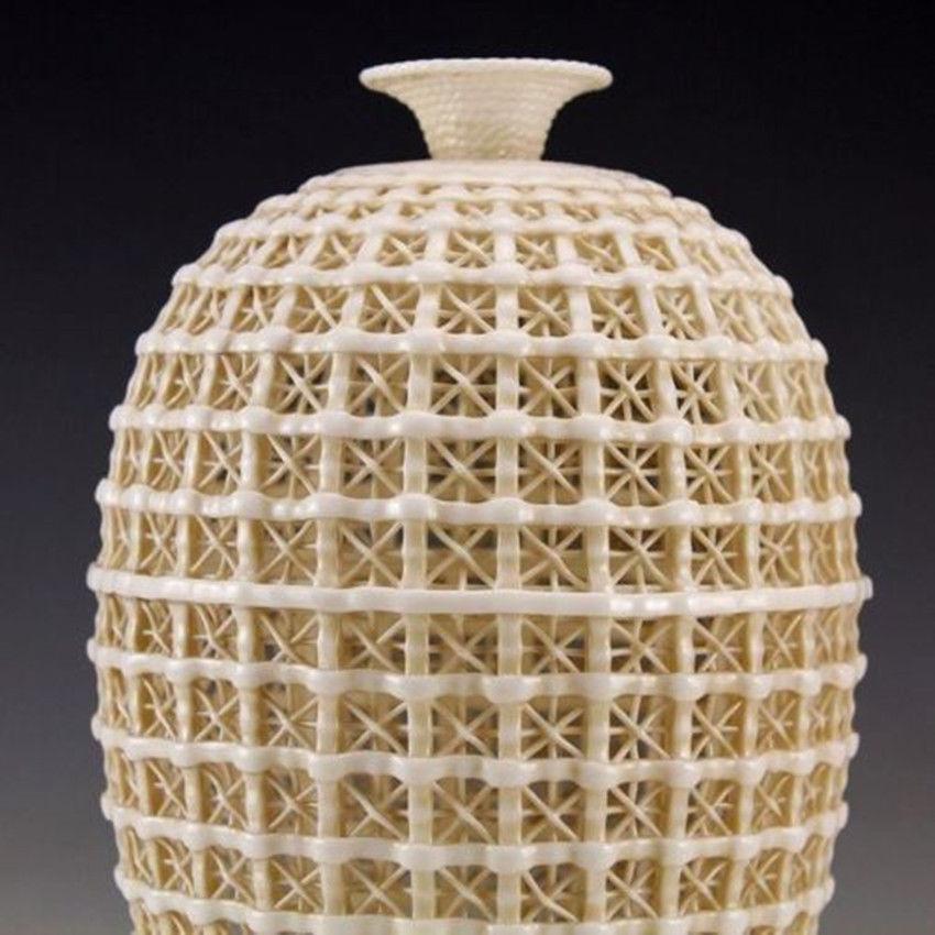 Uitgebreide Vintage handwerk Chinese Dehua porseleinen uitgehold - Huisdecoratie - Foto 4