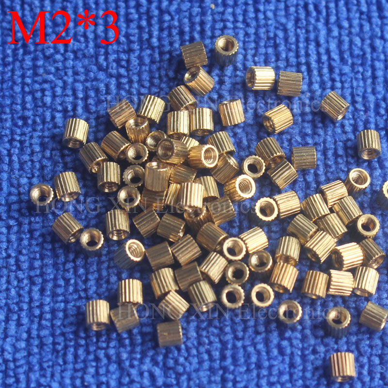 M2*3 Brass Spacer Standoff 3mm Female To Female Standoffs column cylindrical High Quality 100 piece sale free shipping gen1wake be 85 infrared dark night vision ir monocular telescopes 5x battery