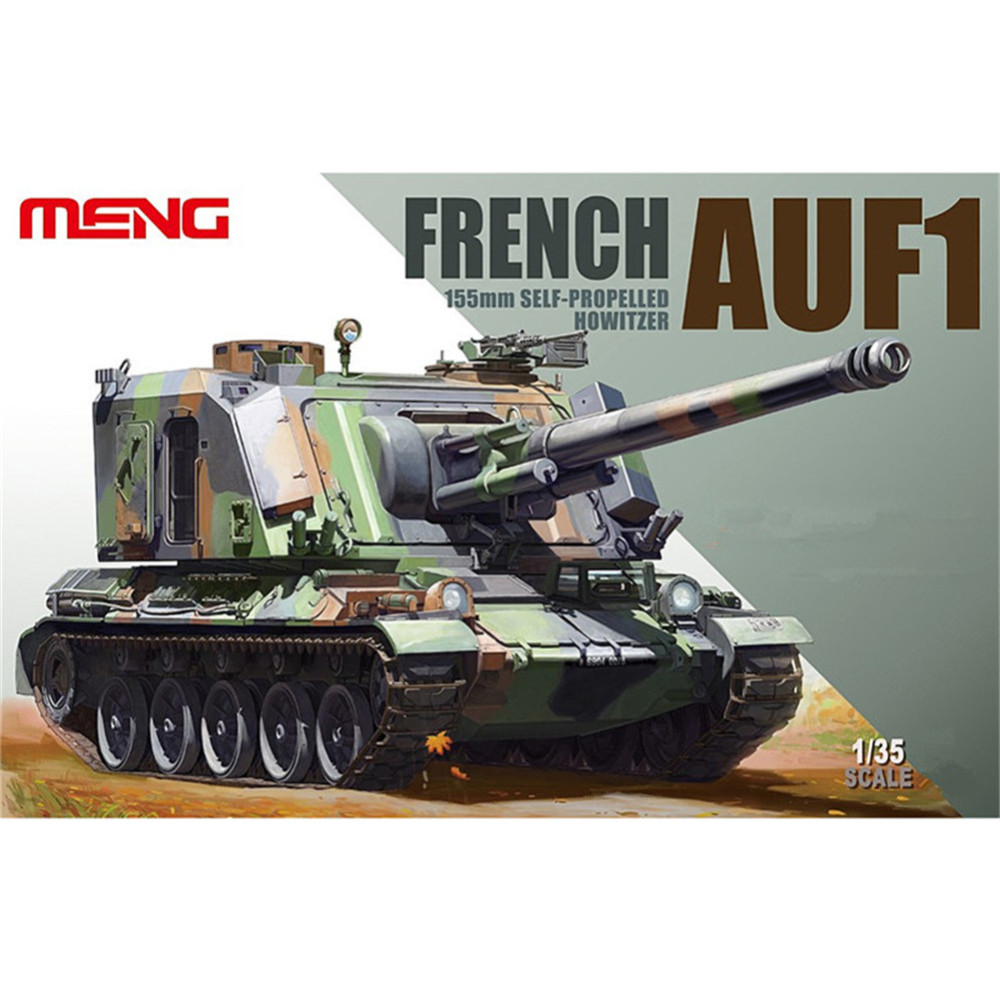 OHS Meng TS004 1/35 French AUF1 155mm Self Propelled Howitzer Tank AFV Model Building Kits oh meng ts013 1 35 amx 30b2 french main battle tank mbt military afv model building kits tth