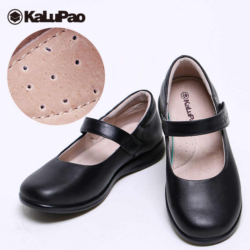 ... Kalupao Uniforms School Shoes Girls Leather Oxfords Black Dress Shoes  Simple Style Girls Flats Shoe ...