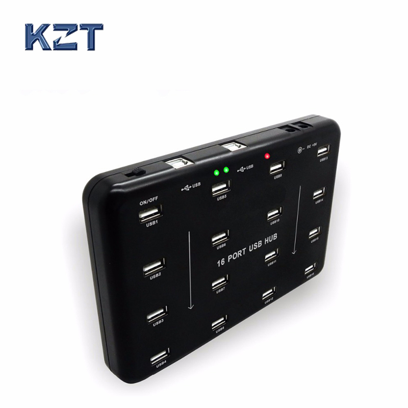 16 interface industrial grade USB 2.0 HUB hub TF card U disk batch test data replicator orico 30 ports industrial usb2 0 hub for tf sd u disk data test batch copy balck