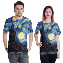 Vincent van Gogh T Shirt For Mens Womens Adult Short Sleve Casual The Starry Night T-shirt Top Tees Fashion tshirt
