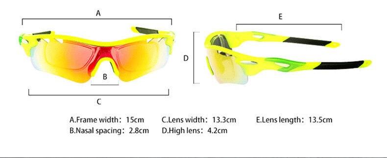 b36816f8a5 1 Marco de gafas y 5 lentes funcionales diferentes, fácil de reemplazar.  Adecuado para:Ciclismo, senderismo, pesca, conducción, esquí, vacaciones en  la ...