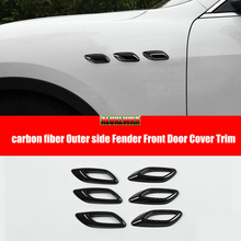 Carbon Fiber Side Air Vent Fender Cover car-styling Exterior for Maserati Levante 2016 2018 2019 2020 2021 ghibli 2014 to 2021