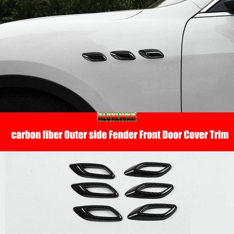 Автомобильный Стайлинг, углеродное волокно, боковое вентиляционное отверстие, чехол для крыла для Maserati Levante 2016 2017 2018 2019 ghibli 2014 до 2019, автомоб...
