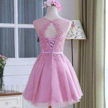 LAMYA Custom Size Elegant Prom Dresses Lace Appliques O-Neck Off The Shoulder Formal Party Dress A Line White vestido de festa 6