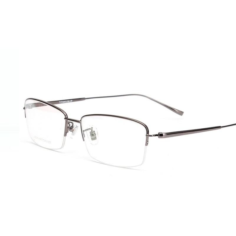 width-140 High-end business men ultra-light titanium Integral glasses leg myopia reding optical eyeglasses frames male