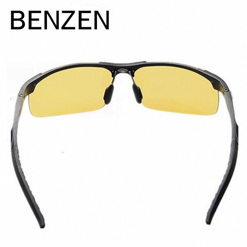 BENZEN Nachtsichtbrille Herren Legierung Gelbe Linsen - Bekleidungszubehör - Foto 4