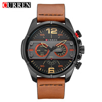 CURREN Men Watch Luxury Brand Army Military Watch Leather Sport Watches Quartz Men Waterproof Wristwatch Relogio