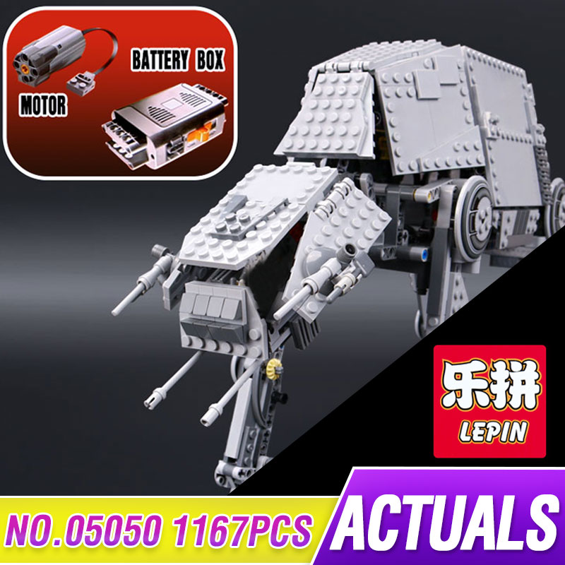 LEPIN 05050 Star Series War 1137pcs AT Model AT the Robot Model Building Blocks Bricks Classic Compatible 75054 to Boys Gift rollercoasters the war of the worlds