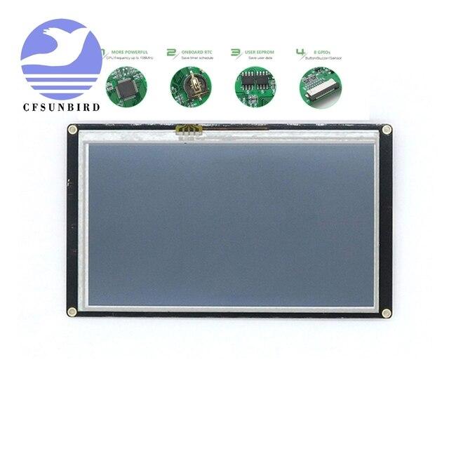 """NX8048K050 5.0 """"Nextion تعزيز HMI الذكية الذكية USART UART المسلسل اللمس TFT وحدة عرض LCD لوحة لمجموعة التوت بي"""