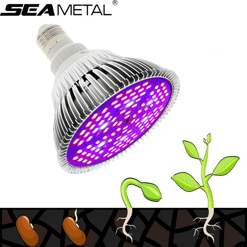 Fitolamp Grow Light E27 50W 80W Lamp For Seedlings LED Full Spectrum Phyto Lamp For Plants Led Plant Light Growth Lights Bulbs