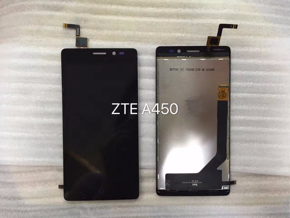 a450 LCD Display+Touch Screen Panel Digitizer Accessories For ZTE A450 5.0inch Smartphone Free Shipping+Track Number vibe x2 lcd display touch screen panel with frame digitizer accessories for lenovo vibe x2 smartphone white free shipping track