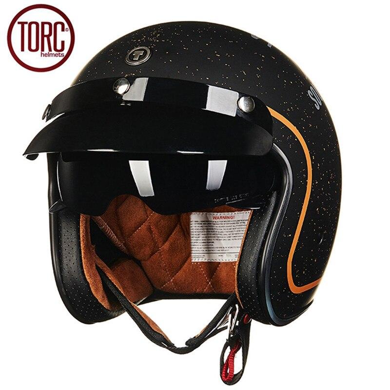 TORC Motorcycle Helmet Retro Harley Open Face Vintage Cruiser Helmet T5775 Moto Casque Casco Motocicleta Capacete
