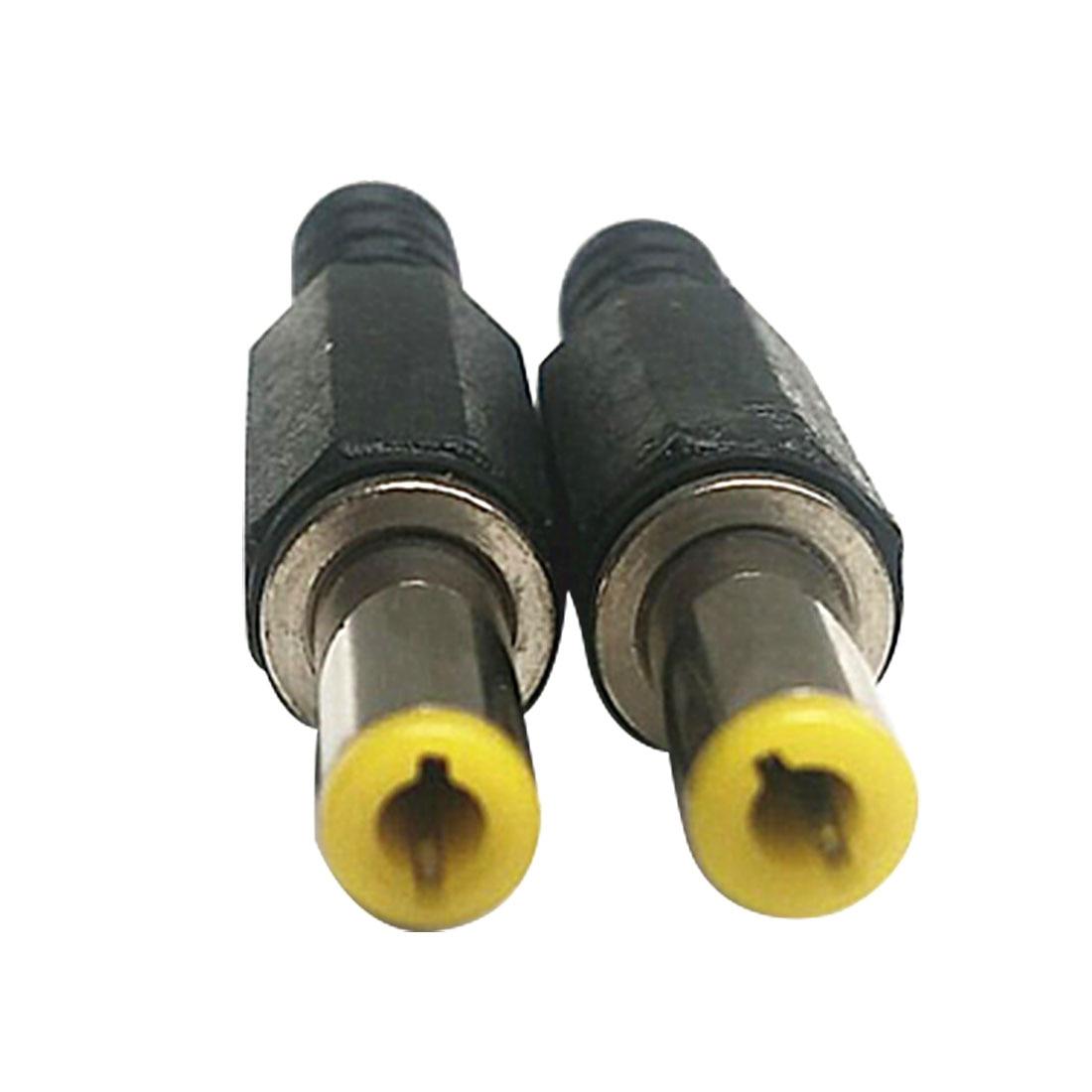 New 6Pcs Hot 5.5mm x 2.5mm DC Power Plugs Male Barrel Connectors Black and YellowNew 6Pcs Hot 5.5mm x 2.5mm DC Power Plugs Male Barrel Connectors Black and Yellow