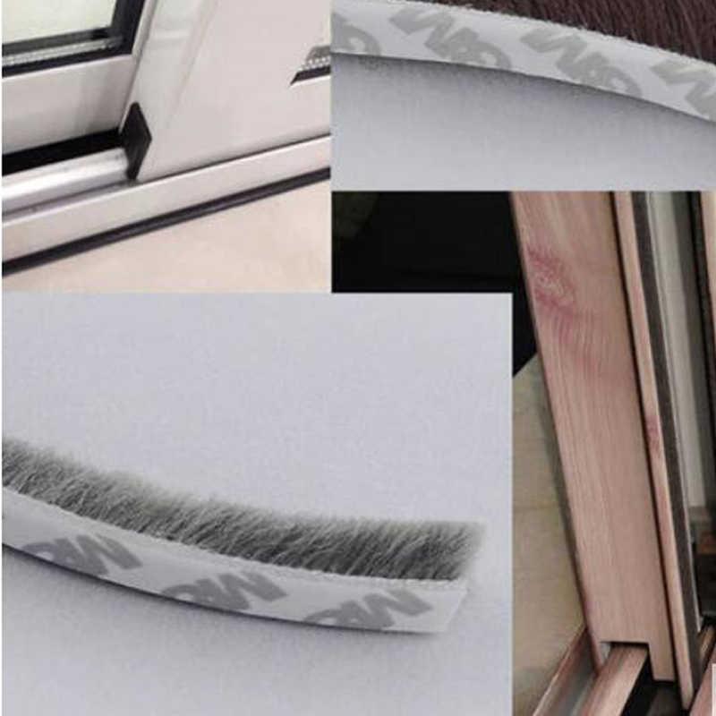 9mm x 9mm עצמי דבק windproof חלון דלת הטיוטה excluder מברשת ערימת חותם רצועת weatherstrip