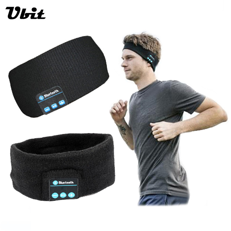 Ubit Smart Wearable Headphone Stereo Magic Music Headband Sports Bluetooth Wireless Headset With mic Answer Call for SmartPhone