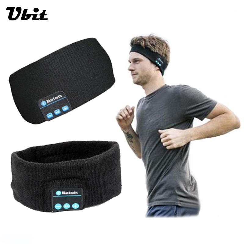 Ubit Smart Wearable Headphone Stereo Magic Music Headband Sports Bluetooth Wireless Headset With mic Answer Call for SmartPhone
