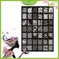 1 Unids Nuevo Diseño BQAN Sonrisa Caras de Acero Inoxidable/la Serie de Flores Imágenes Nail Plate Estampación XY15