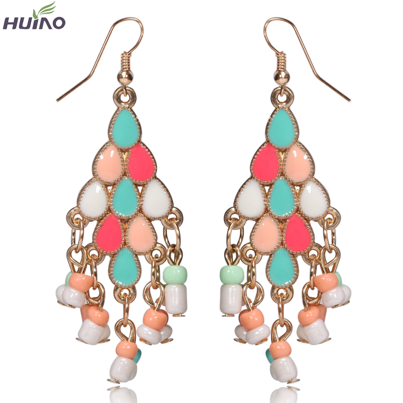 Earings Rushed Top Fashion Women Ethnic Crystal Sterling Jewelry Pendientes Sector Shape 2015 Newest Design Earring Tassel