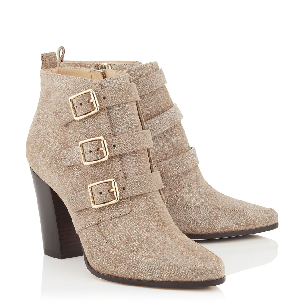 2016 Women Ankle Boots Zip Pointed Toe Square Heels High-quality Nubuck Leather Beige Shoes Woman Plus US Size 4-15 egonery quality pointed toe ankle thick high heels womens boots spring autumn suede nubuck zipper ladies shoes plus size