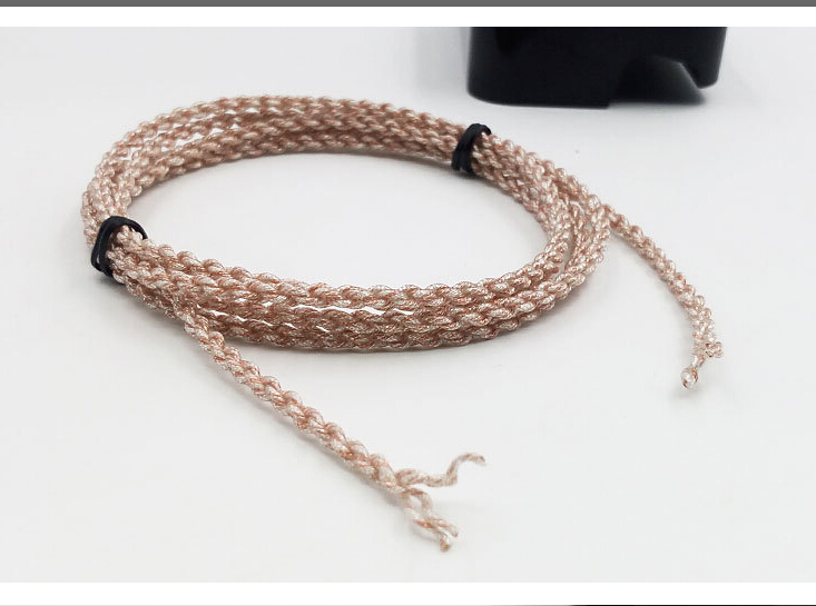 copper silver alloy music ribbon Wiston 28 core 7N single crystal grain copper occ 4 shares preparation diy headphone cable 2M 800 wires soft silver occ alloy teflo aft earphone cable for ultimate ears ue tf10 sf3 sf5 5eb 5pro triplefi 15vm ln005407