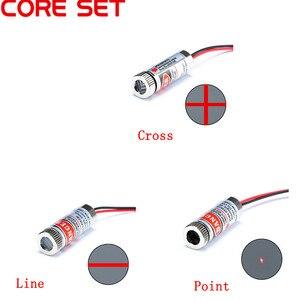 Лазерный модуль с красной точкой/линией/крестом, 650 нм, 5 мВт, Фокусируемый фокус для стеклянных линз, регулируемая Лазерная Диодная головка, ...