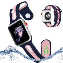 Waterproof Sport Silicone Strap For Apple Watch Series 3 2 1 Band 42mm 38mm Smart Bracelet Wearable Straps Replacement Wristband