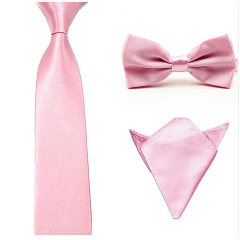 15 Colors Men Tie Bowtie Pocket Set Adjustable Plain Wedding Bow Tie For Evening Party solid color Neckties butterflies MC18679