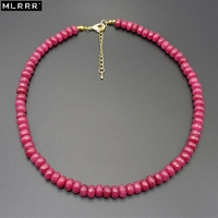 MLA Vintage Classic High Quality Fabulous Natural Rubies Beaded Necklaces Chain Length 45cm 1 Pcs