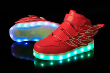 Kids Sneakers Fashion Charging Luminous Lighted Colorful LED lights Children Shoes Casual Flat Girls Boy Shoes Eur28-35