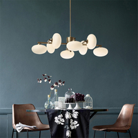 Nordic Loft Metal Glass Ball Chandeliers Modern Dining Room Led Pendant Lamp Living Room Light Fixtures Lighting Suspension