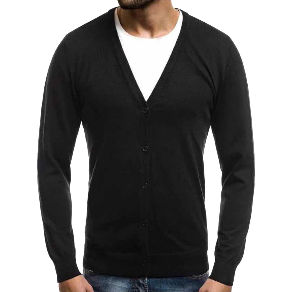 Men's Autumn Winter Warm sweater Pullover Cardigan Button Knitted Sweater Blouse Tops Casual chompas para hombre Mens Sweaters