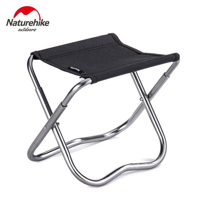 Naturehike сверхлегкий Портативный складной стул для рыбалки Малый Алюминий складной стул для кемпинга, отдых на открытом воздухе для лодки
