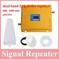 Pantalla Lcd repetidor de doble banda 1800 900 teléfono móvil 2g repetidor de la señal gsm 900 mhz dcs 1800 celluar booster amplificador venta