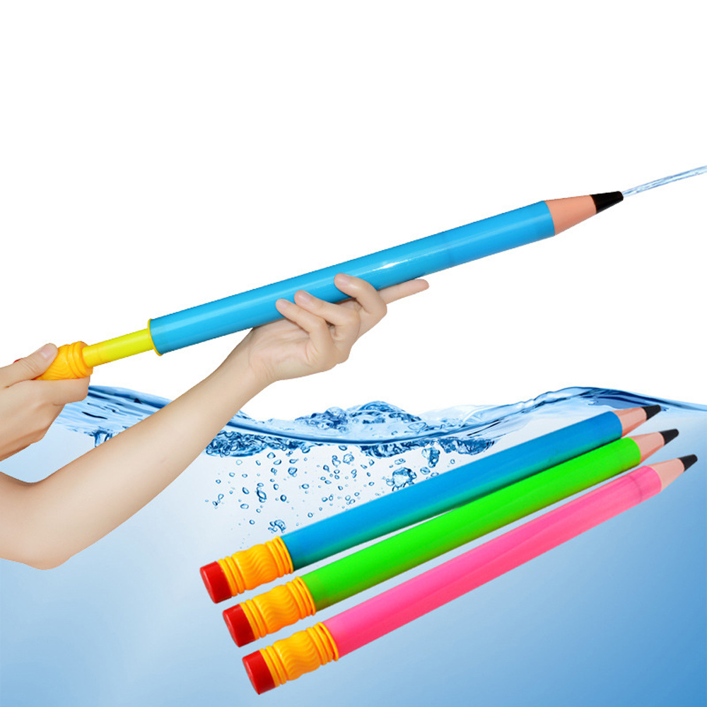 44cm Plastic Pencil Water Guns Sprinkling Toys For Kids Fun Summer Swimming Pool Beach Outdoor Shooter Toys For Children