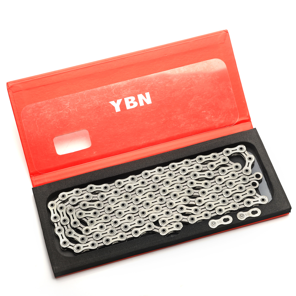 YBN chain SLA silvery bicycle full hollow 10 speed bike chain mountain road bike 10 variable