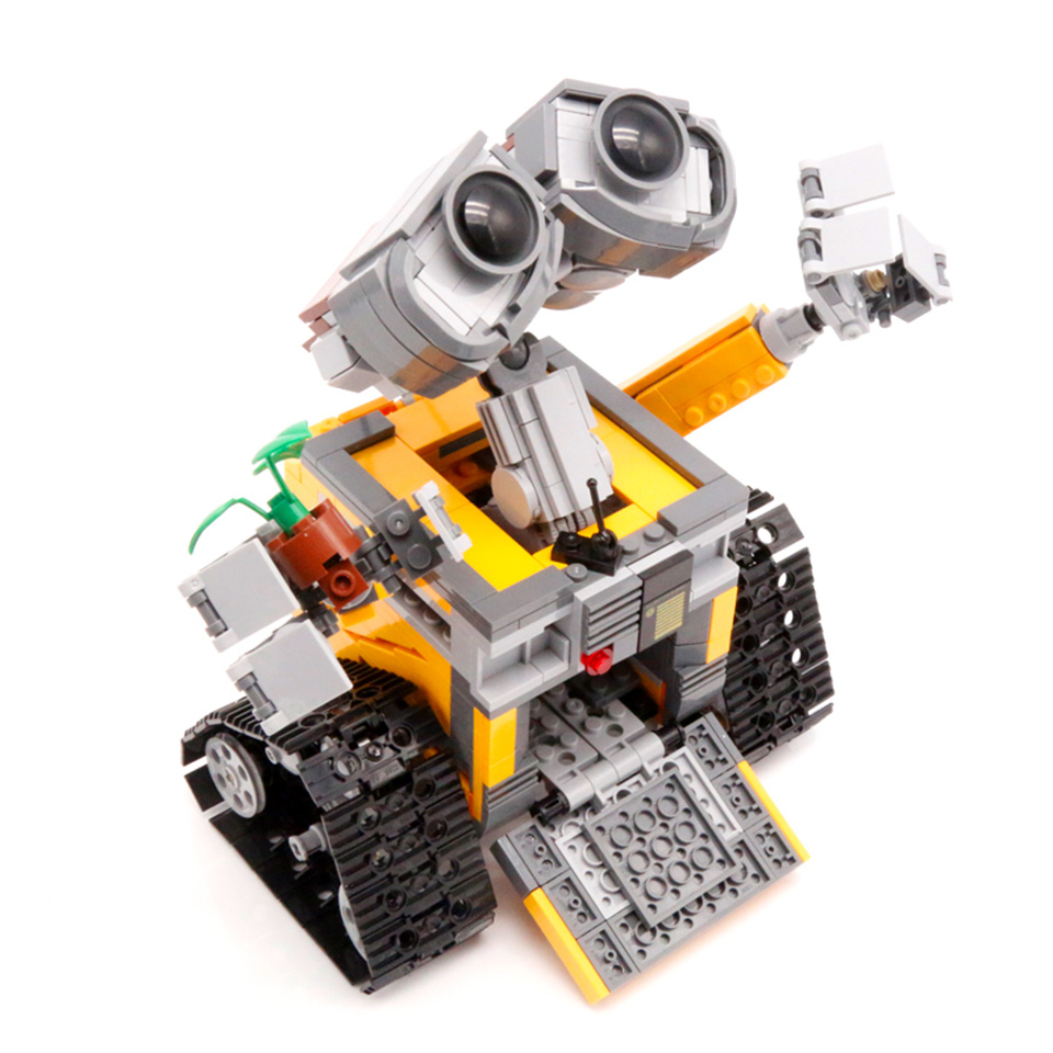 WALLE Robot Compatible With <font><b>Legoing</b></font> <font><b>21303</b></font> Model Building Blocks 687 Piece Bricks Kids Birthday Gifts Toys For Children image