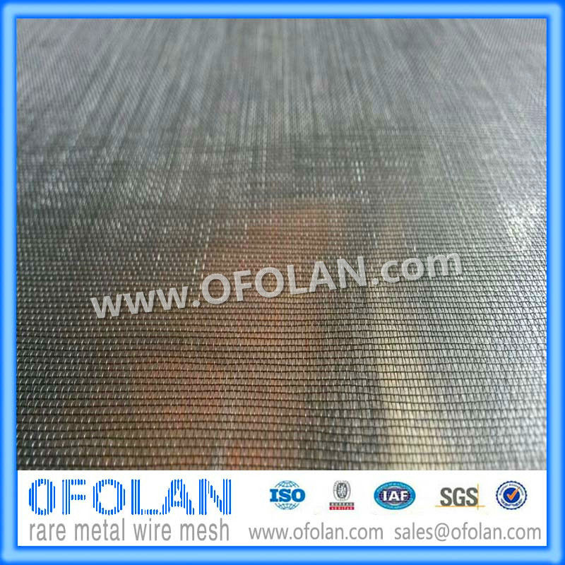 MO1>99.95%) Hole size 0.3mm(60 mesh) molybdenum wire mesh ...