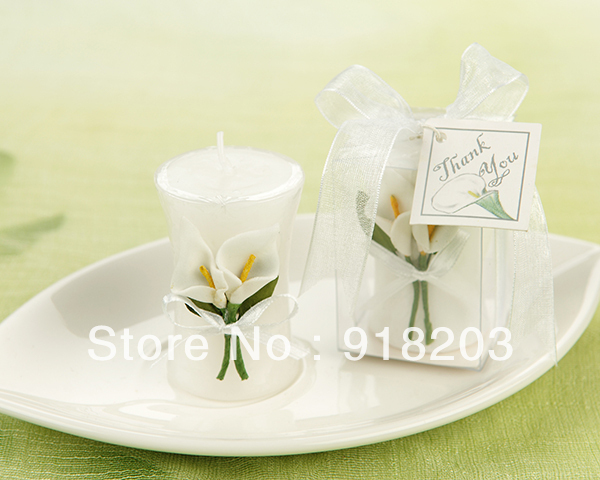 Popular Calla Lily Vase Shaped Wedding Candle (PM-CF026)  for wedding gift / valentine gift
