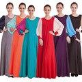 Moda 2015 Senhoras Elegantes Casuais Slim Plus Size Vestuário Islâmico Abaya Muçulmano Vestido Longo Maxi Mulheres vestido de Renda 204