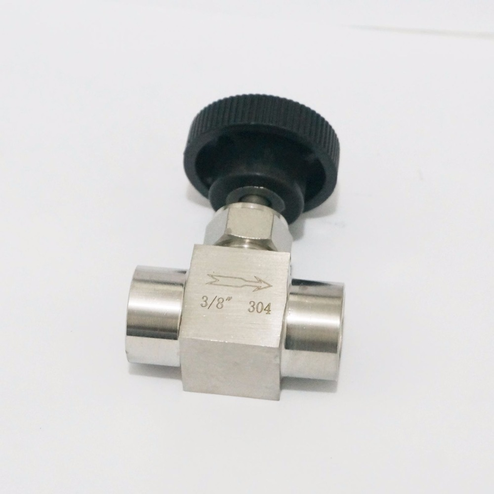 3/8 BSP Equal female Thread 304 Stainless Steel flow Control shut off valve Needle Valve 915 PSI Water Gas Oil 1 4 bsp male to female thread 2 way 304 stainless steel dn8 2 pieces ball valve for water gas oil control