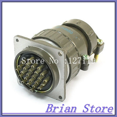 Flange Mounting P48 26 Core 48mm 26 Pin CNC Metal Aviation Connector