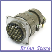 Flange Mounting P48-26 Core 48mm 26 Pin CNC Metal Aviation Connector