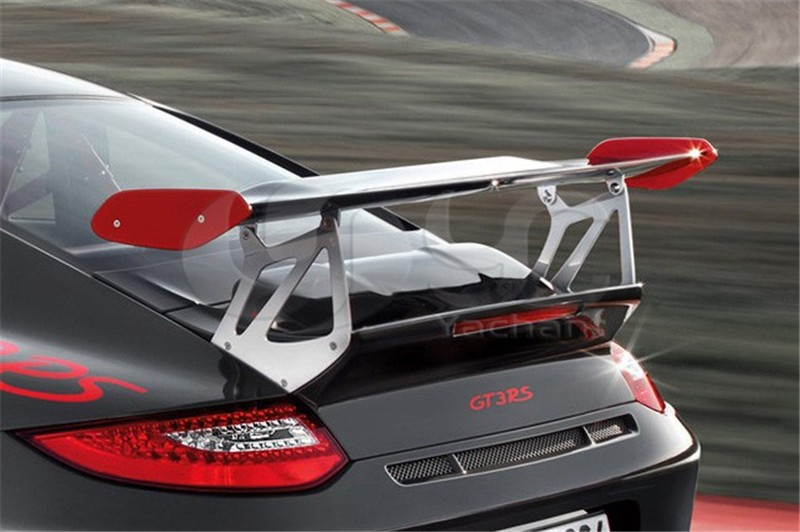 2005-2011 Porsche Carrera 911 997 GT4 Style Trunk Spoiler GT Wing CF with FRP Base (21)