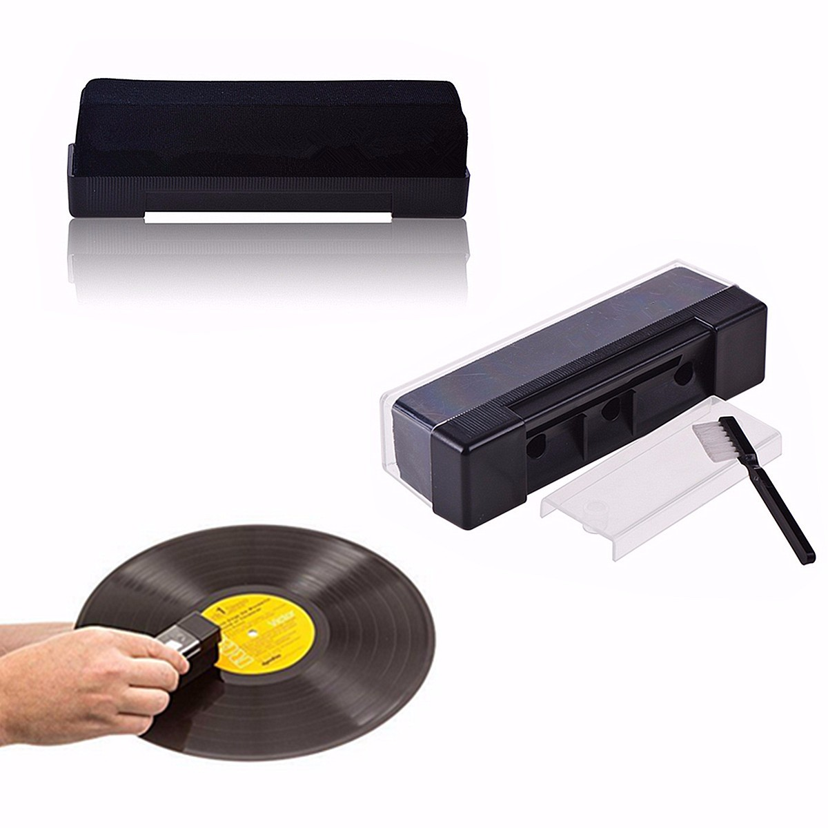 все цены на LEORY Combination Villus Vinyl Records Cleaning Kit With Small Stiff Brush For LongPlay Turntable Phonograph Ly Record Cleaning онлайн