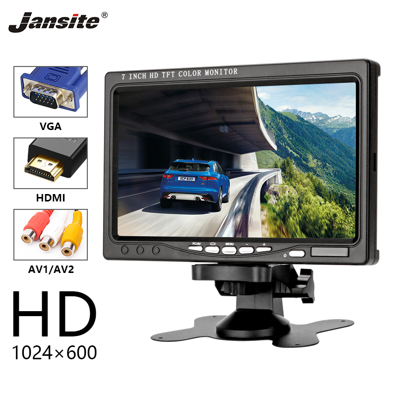 Jansite 7 Car Monitor HD IPS Display can used for computer HDMI monitor Reverse Assistance Camera