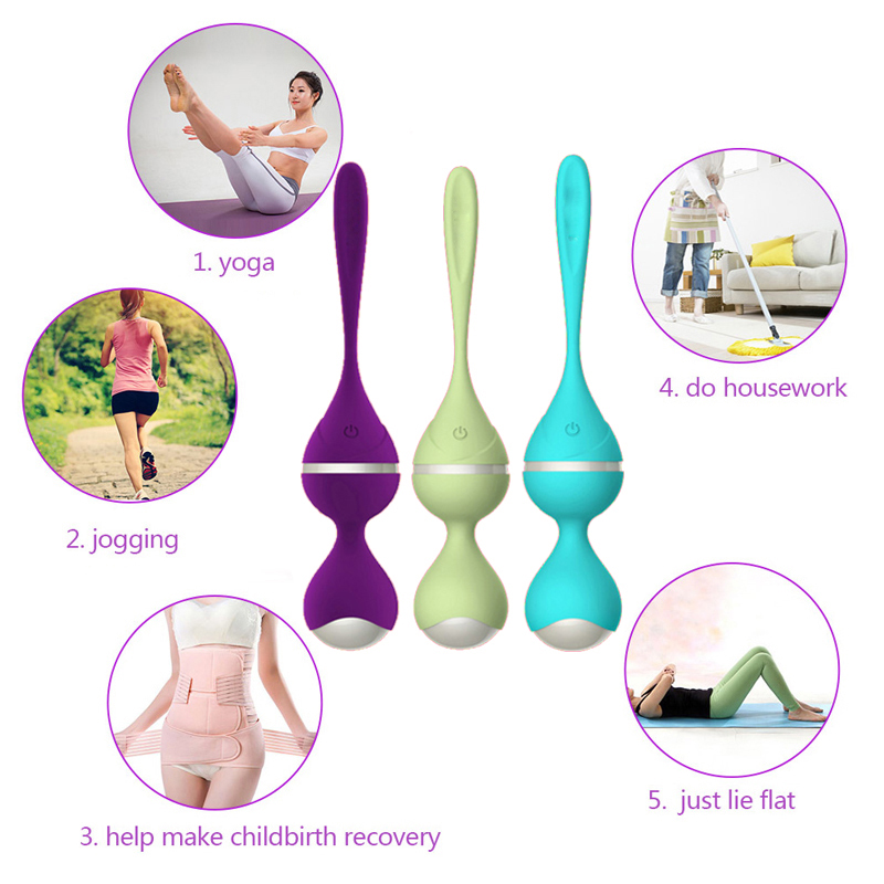 Silicone Remote Control Kegel Ball Vaginal Tight Exercise Vibrating Egg Geisha Ball Ben Wa Balls Dual Vibrator Sex Toy for Woman bear leader girls skirt sets 2018 new autumn