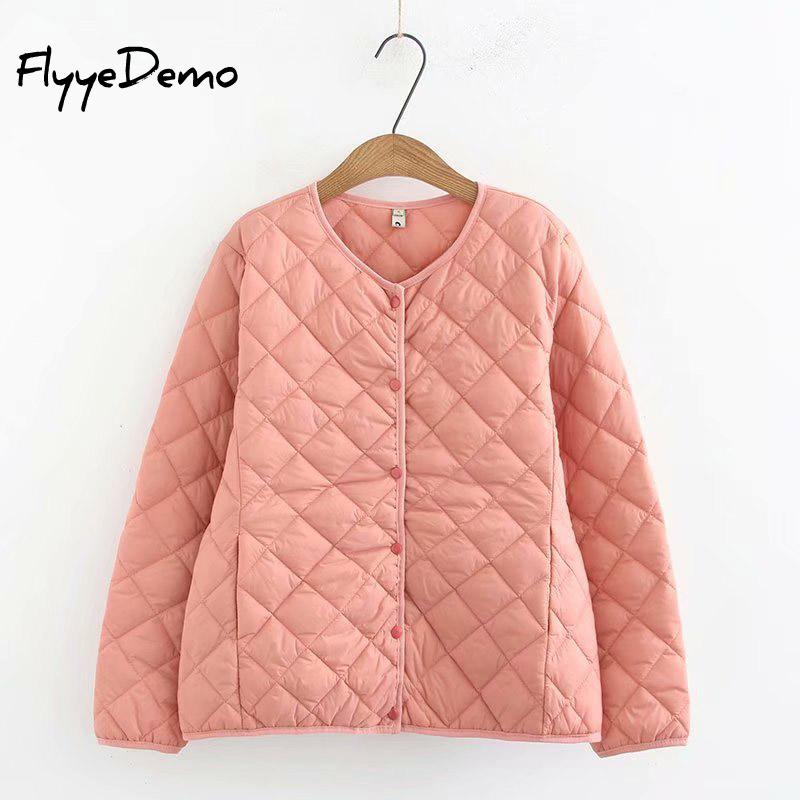 2019 New Autumn Winter Women Plaid Warm Parkas V-Neck Short Bottoming Cotton Coat Female Long Sleeve Windproof Plus Size 4XL