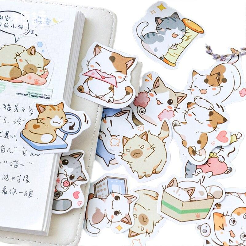 45Pcs/box Kawaii Chipmunk Stickers DIY Decorative Sealing Sticker Label Scrapbooking School Office Supply Stationery